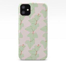 Minimalist Hedera Plant Pattern iPhone Case