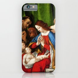 Lorenzo Lotto - Adoration of the Christ Child iPhone Case