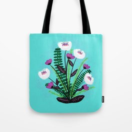 Green and Purple Bouquet Tote Bag