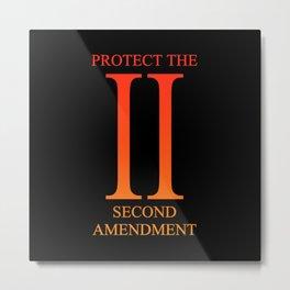 Protect the Second Amendment Metal Print