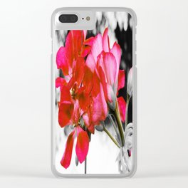 Flowers : Pop of Color Clear iPhone Case