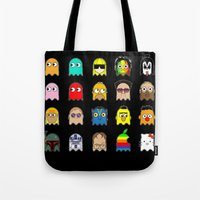 pac man Tote Bags featuring pac man by sEndro