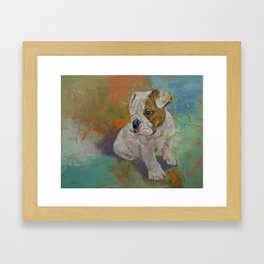 Bulldog Puppy Framed Art Print