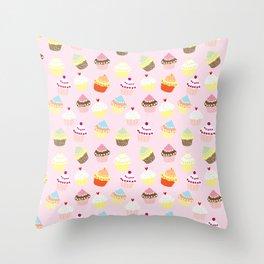 Cupcake Pattern Throw Pillow