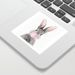 Bunny With Bubble Gum Sticker