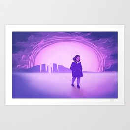 Big Pink World Art Print