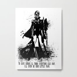 Lightning Ink Blot Metal Print