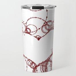 Circles make Heart Multi Design Line Art Travel Mug