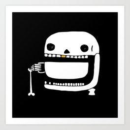 Espresso Skull Art Print