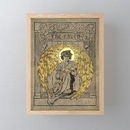 The Raven. 1884 edition cover Framed Mini Art Print