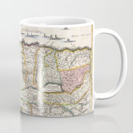 Old 1720 Historic State of Palestine Map Coffee Mug