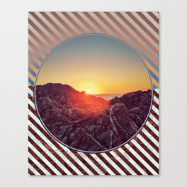 Peel Sunset -  brown graphic Canvas Print