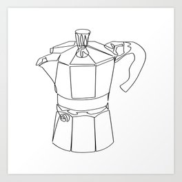 """ Kitchen Collection "" - Coffee Maker Art Print"