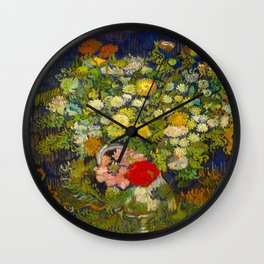 Bouquet of Flowers in a Vase Vincent van Gogh Oil on canvas 1890 Wall Clock