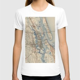 Vintage Map of St. Augustine Florida (1937) T-shirt