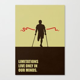 Lab No. 4 -Limitations live only in our minds corporate start-up quotes Poster Canvas Print