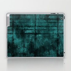Turquoise Lined Rusted Metal Look Laptop & iPad Skin
