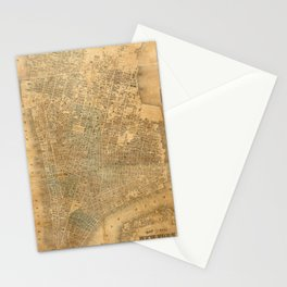 Vintage Map of New York City (1852) Stationery Cards
