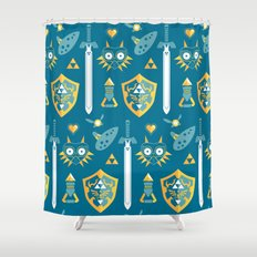 A Hero's Arsenal Shower Curtain