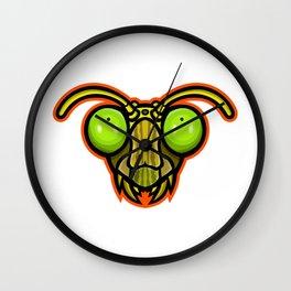 Praying Mantis Mascot Wall Clock