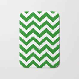 Green (HTML/CSS color) - green color - Zigzag Chevron Pattern Bath Mat