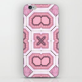 Victorian Art Deco Medieval Pattern light pink SB43 iPhone Skin