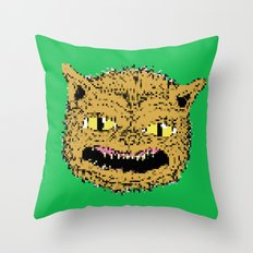 cat ghouie Throw Pillow