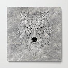 S-Wolf Mood Metal Print