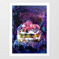 cake Art Prints featuring Cake by Andreea Maria Has