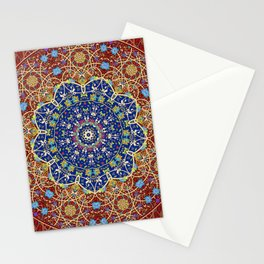 Woven Star in Blue and Red Stationery Cards