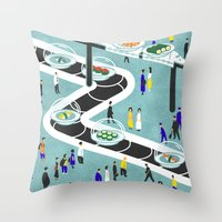 sushi Throw Pillows featuring Sushi by Alexey Khamkin