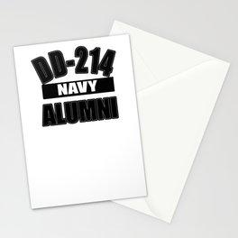 Men's Navy Shirt Gift DD-214 Alumni T-Shirt Gift Veteran Stationery Cards