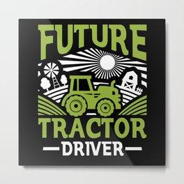 Tractor Driver Metal Print