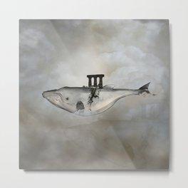 Awesome whale Metal Print