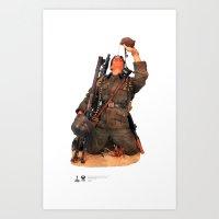 One Sixth Custom Figure 09 Art Print