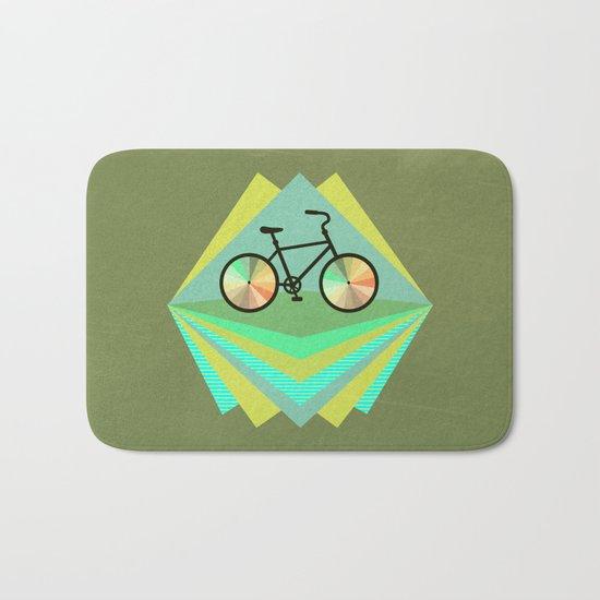 wanna ride my bicycle Bath Mat