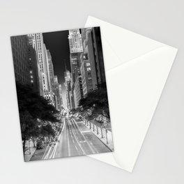 42nd street Manhattan at dawn Stationery Cards