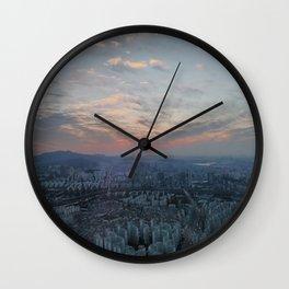 Sunset in Seoul Wall Clock