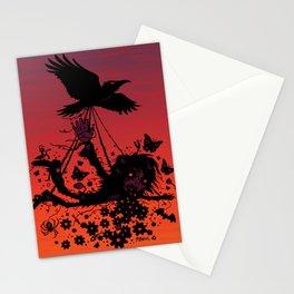 Strange Trip Through The Sky Stationery Cards