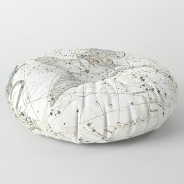 Constellations Lacerta, Cygnus, Lyra Celestial Atlas Plate 11 - Alexander Jamieson Floor Pillow