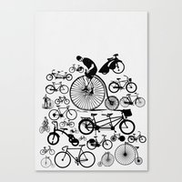 bicycles Canvas Prints featuring Bicycles by Ewan Arnolda
