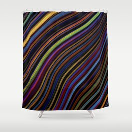 Wild Wavy Lines 04 Shower Curtain