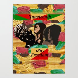 Juneteenth 1865 Freedom Collage Poster