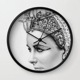 Elizabeth Taylor Cleopatra Portrait Wall Clock