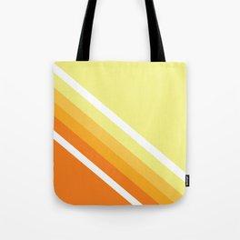 Retro Orange n' Yellow Lines Tote Bag