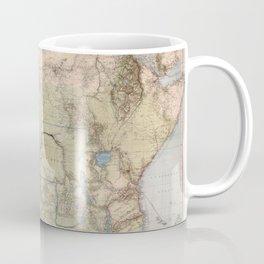 1885 Vintage Map of Africa Coffee Mug