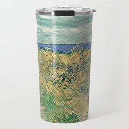 Vincent van Gogh - Wheatfield With Cornflowers (1890) Travel Mug