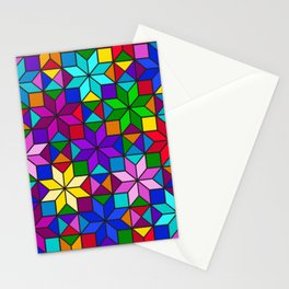 Colorful Rainbow Mosaic Abstract Stationery Cards