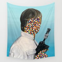 luke hemmings Wall Tapestries featuring Rebel Scum - 03 by FAMOUS WHEN DEAD