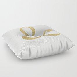 Gold Glitter Ampersand Floor Pillow